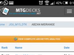 MTG Decks 1.1 Screenshot