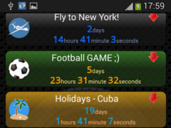 Countdown Chronometer & Widget 1.6 Screenshot
