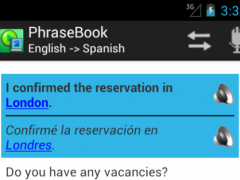 Multilingual Phrasebook 2.21 Screenshot
