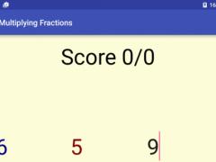 Multiplication of Fractions  Screenshot