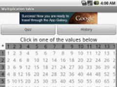 Multiplication Table (Tabuada) 2.1 Screenshot