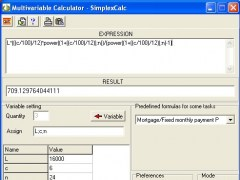 Multivariable calculator - SimplexCalc 4.1.24 Screenshot