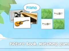 Musical instruments sounds flashcards and matching pairs game for kids and toddlers 2.0 Screenshot