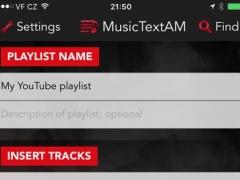 MusicTextAM 1.0 Screenshot