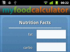 My Food Calc 1.0 Screenshot