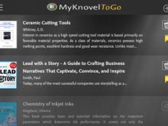 My Knovel ToGo 1.3.1 Screenshot