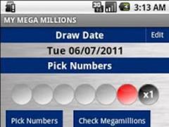 MegaMillions (Free) 1.8 Screenshot