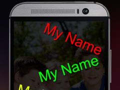 My Name Moving on Screen LWP 1.0 Screenshot