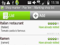 My Restaurant List - PayVer 6.0 Screenshot