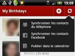 MyBirthdays 2.1.9 Screenshot