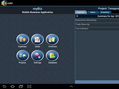 myBiz Mobile Business Manager 1.3.0 Screenshot