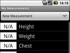 MyMeasurements 1.5.2 Screenshot