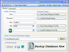 MySQLDataBackupTool 2.4 Screenshot