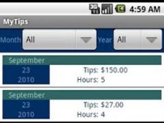 MyTips Tip Ledger 1.4 Screenshot