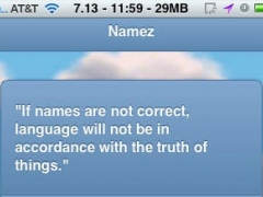 Namez 1.0 Screenshot