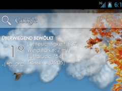 Nature Live Weather LWP 1.4.5 Screenshot