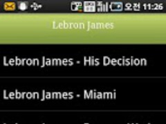 NBA Player LeBron James 1.0 Screenshot