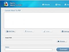 Nemo Word to PDF 4.0 Screenshot