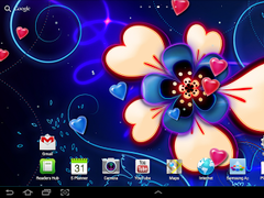 Neon hearts live wallpaper 1.0.1 Screenshot