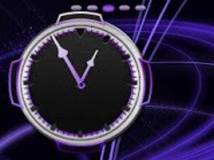 Neon Purple Style Clock 1.1 Screenshot