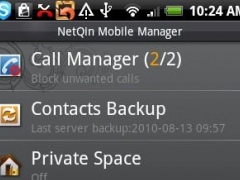 NetQin Mobile Manager for Android 2.0/2.1 3.0 Screenshot