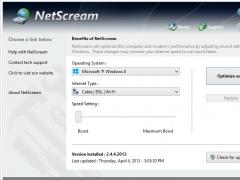NetScream 2.5.26.2014 Screenshot