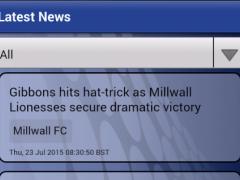 News for Millwall FC 1.2.1 Screenshot