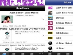 News HQ for Justin Bieber 1.3 Screenshot