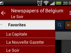 Newspapers of Belgium 1.7.1 Screenshot