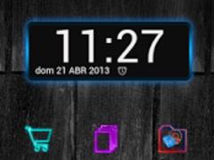 Next Launcher Theme GlowColors 1.0 Screenshot