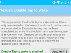 Nexus 6 Double Tap to Wake 1.2 Screenshot