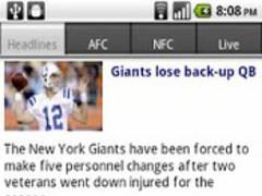 NFL Scores & News Reader 4.1 Screenshot