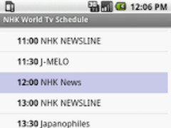 NHK World Tv Schedule 0.9.8 Screenshot