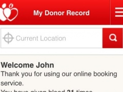 NHSGiveBlood 2.2.17 Screenshot