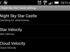 Night Sky Star Castle PREMIUM 1.0 Screenshot