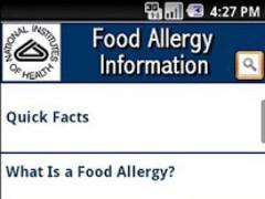 NIH: Food Allergy Information 3.0.0.01 Screenshot