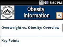 NIH: Obesity Information 3.0.0.01 Screenshot