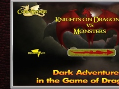 Nimble Fantasy Knight on Dragon vs Evil Monster - Kingdom of Dark Throne Summoner - iPhone/iPad Pro Edition Game 1.0 Screenshot