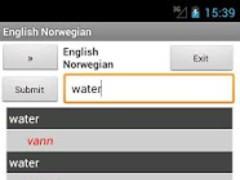 Norwegian English Dictionary 5.0 Screenshot