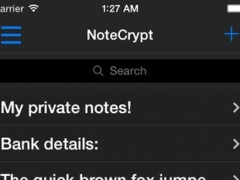NoteCrypt Encrypted Notes 1.0 Screenshot
