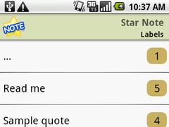 Notepad - Star Note Demo 1.21 Screenshot
