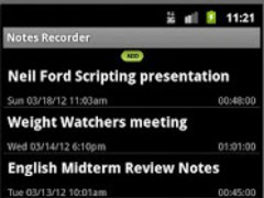 Notes Recorder-by Harvard SW 1.10 Screenshot