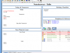 Notesbrowser Freeware English 1.9.6 Screenshot