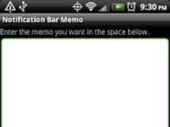 Notification Bar Memos Free 1.14 Screenshot