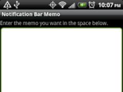 Notification Bar Memos 1.13 Screenshot