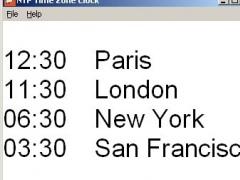 NTP Time Zone Clock 3.0 Screenshot