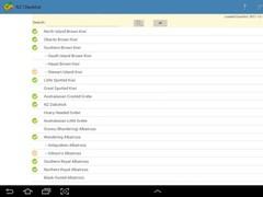NZ Birding Checklist 2.2 Screenshot