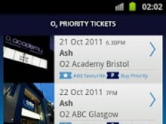 O2 Priority Tickets  Screenshot