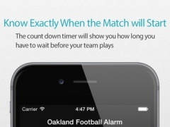 Oakland Football Alarm 2.0 Screenshot