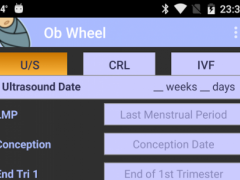 graphic regarding Pregnancy Wheel Printable identify OB Wheel (Being pregnant calculator) Absolutely free Obtain